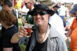 Festgoer and homebrewer Scott Schabilon enjoys a real ale