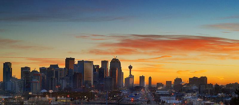 Calgary Sunrise Pano