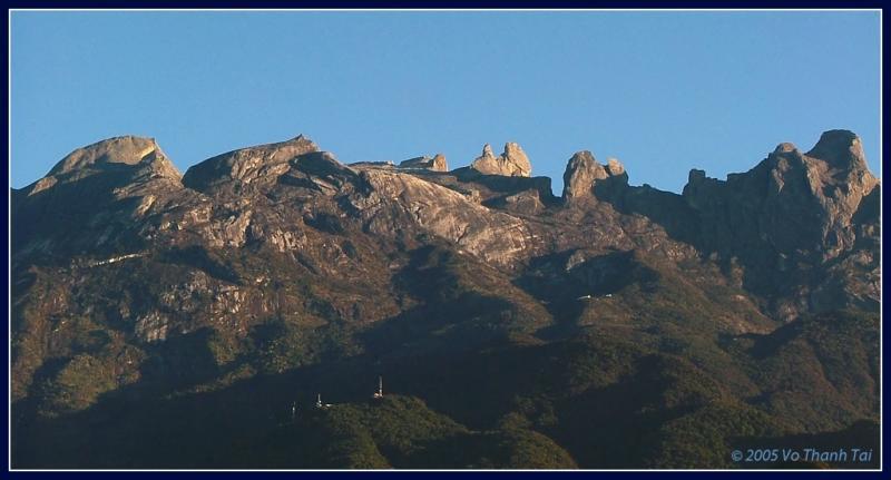 The peaks of Mt Kinabalu
