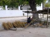 Ilha de Mocambique - broom salesman