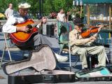 The boys jammin' at Place Jacques-Cartier