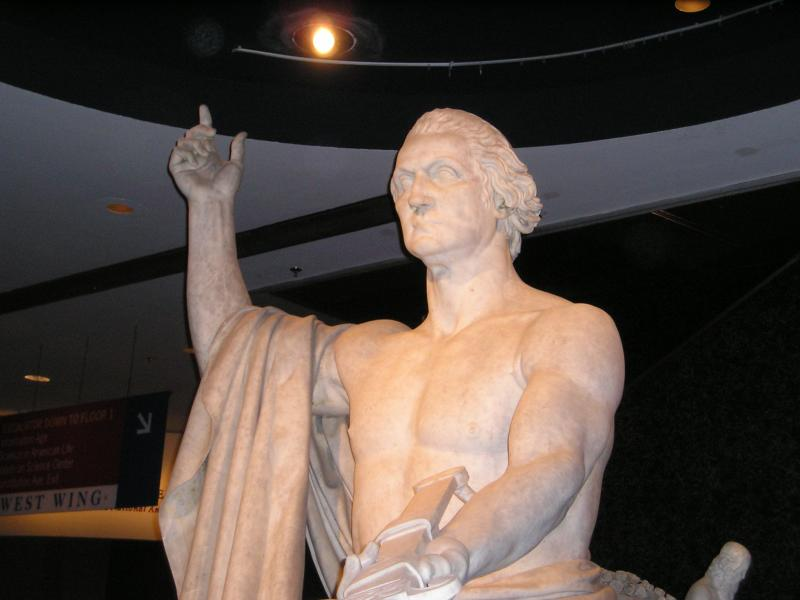 Washington statue at the Smithsonian American History Museum