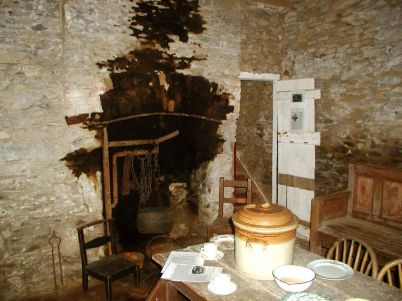 Famine cottage interior