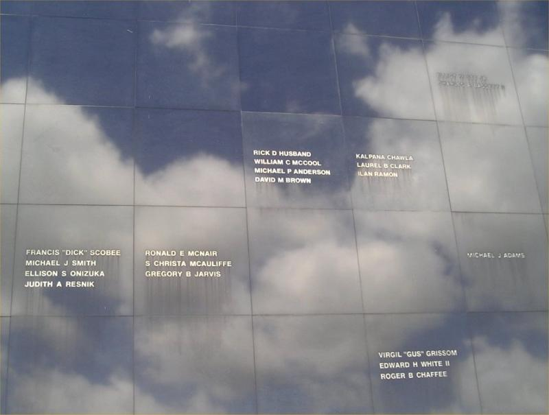 Astronauts memorial wall