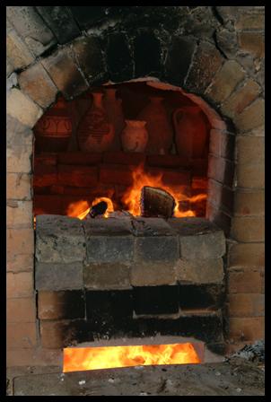 Pots in the kiln