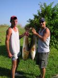 Chris and Daniel with catch