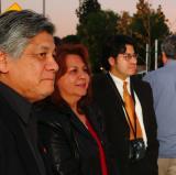 Memorial artist, Ignacio Gomez with family