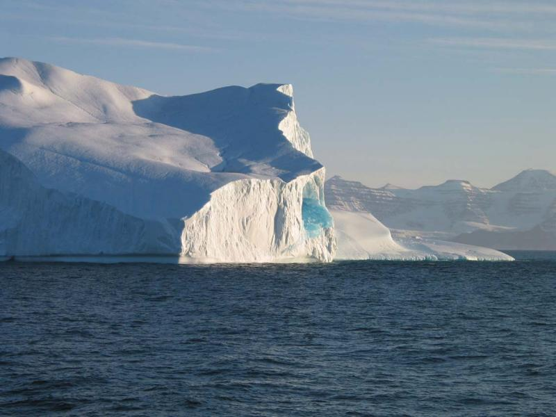 Iceberg with Frozen Blue lake