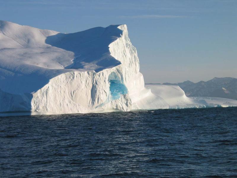 Iceberg with Frozen Blue lake