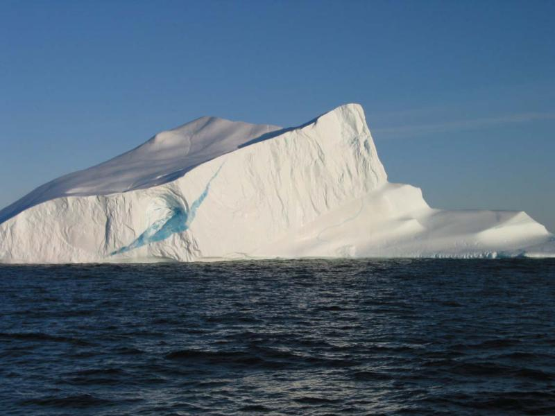 Iceberg with a Bluestreak