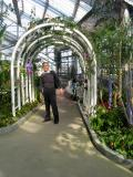 Masashi with orchids