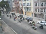 There were something like 2 blocks of scooters and motorcycles tooling around the city Sunday