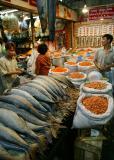 Dried shrimp and fish at Bangkok market