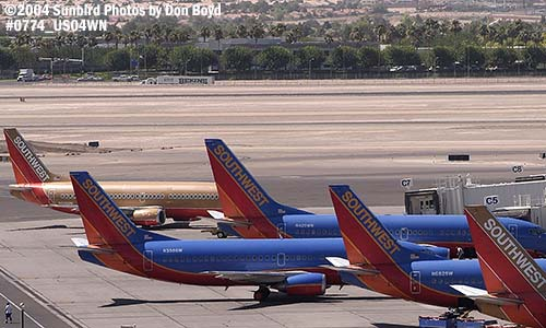 Southwest Airlines B737s aviation stock photo #0774