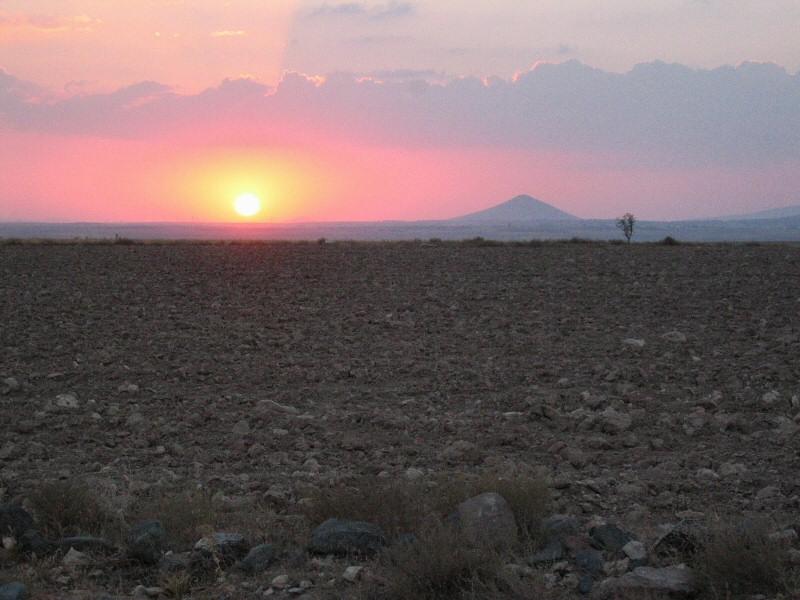 Stopped to take sunset shots