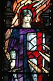 Window detail, St. Mary's Church, Tenby, Wales
