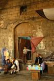 Entrance to a small tea shop