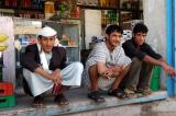 Three guys in a shop near Sulieman's flat