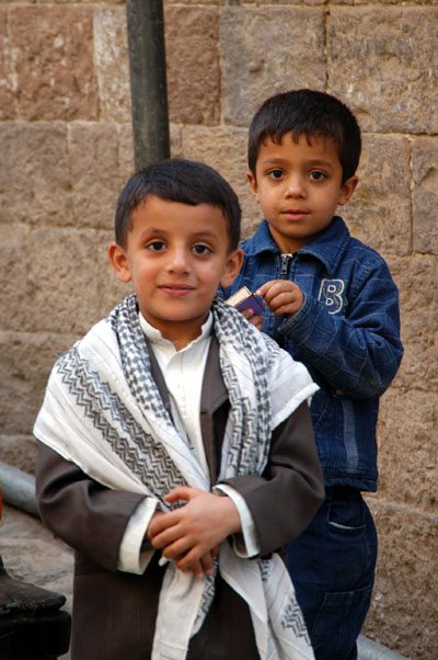 2 boys in Sanaa, Yemen