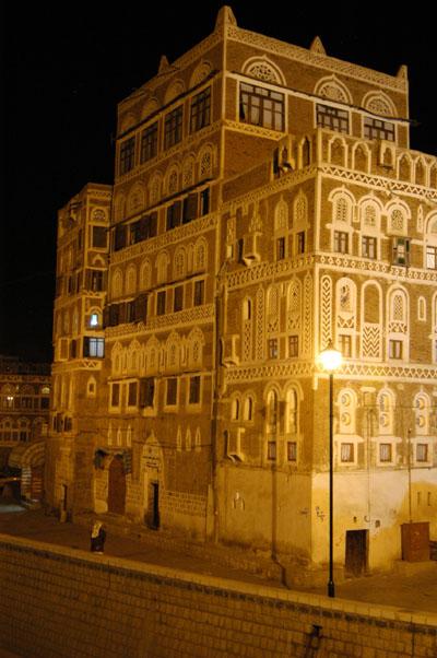 Saila at night, Old Town Sanaa