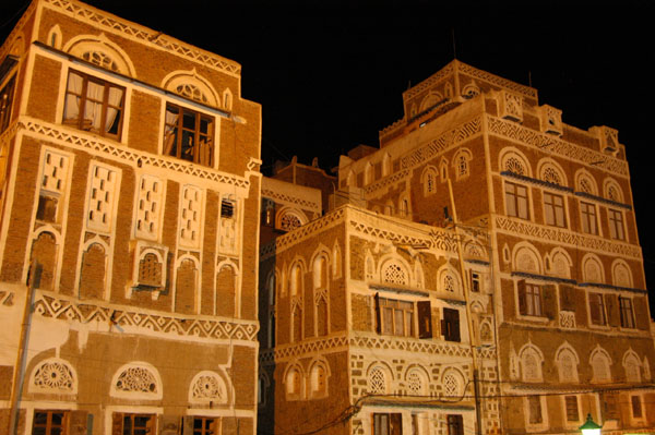 Old Town Sanaa, night
