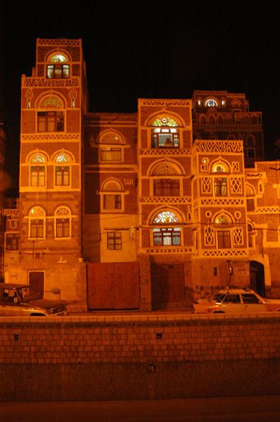 Saila, old town Sanaa, night