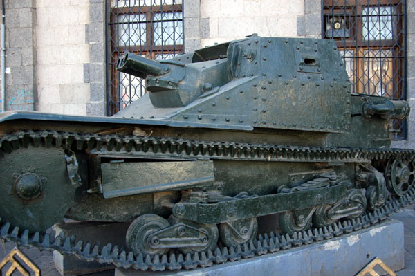 A tank in front of the Military Museum, Tahrir Square