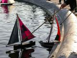 Sailboats in the fountain