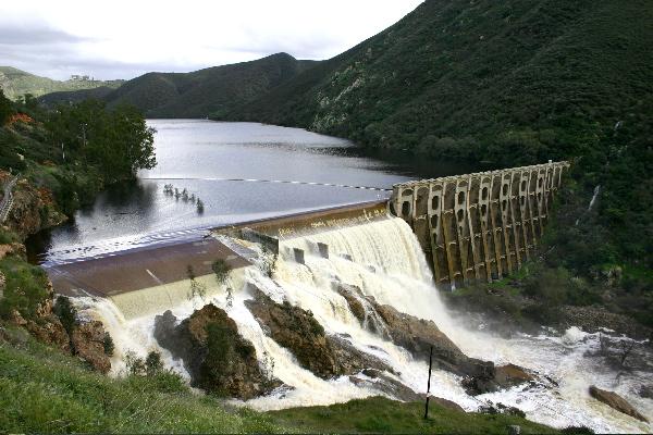 Hodges Dam - Spillwater