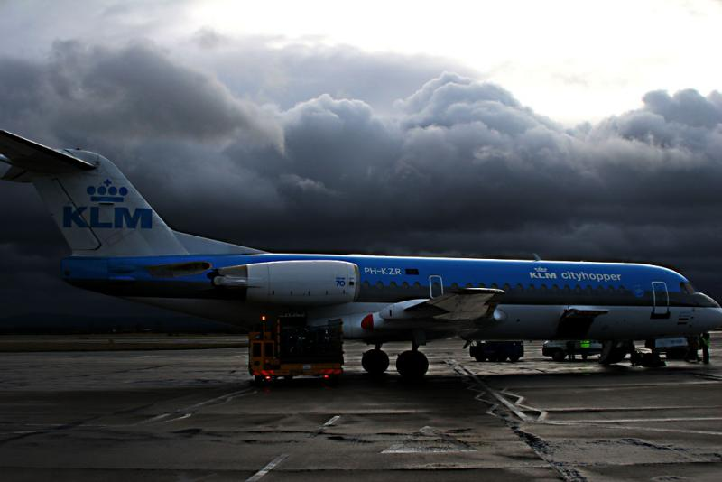 Stormy day at Teesside Airport
