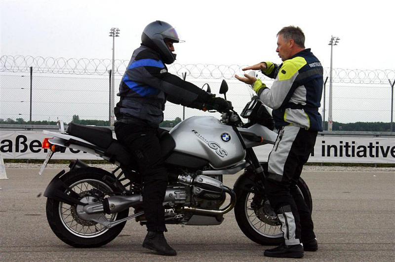 Motorcycle training is vital in Germany where riders frequently hit speeds of over 200km/h on the autobahns.