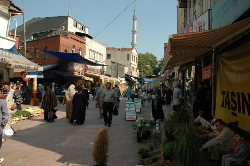 171 Istanbul  Market day at Fatih Mosque june 2004