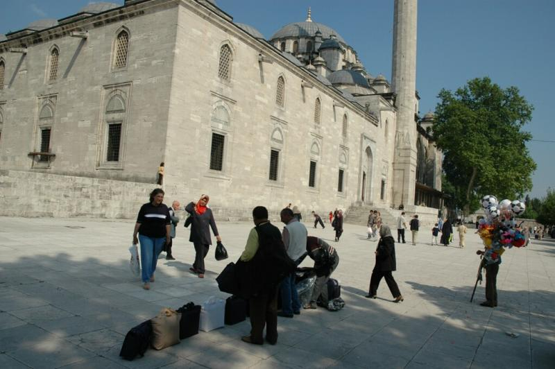 172 Istanbul  Market day at Fatih Mosque june 2004