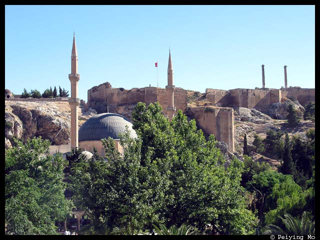 Mosque and the citadel on Damlacik Hill