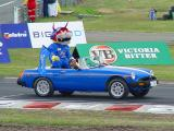 The Tassie Devil Racer in drivers parade.
