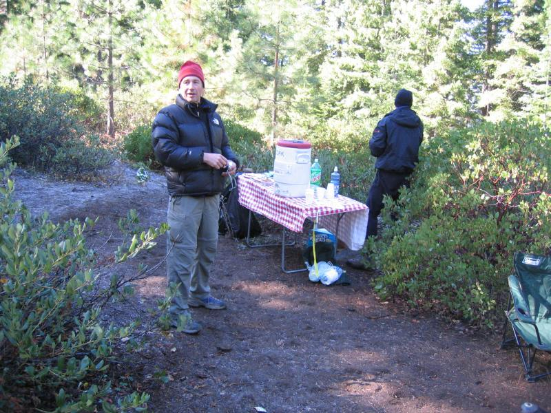 Aid Station 2 (mile 14)<br>Curts happy to see us</br>