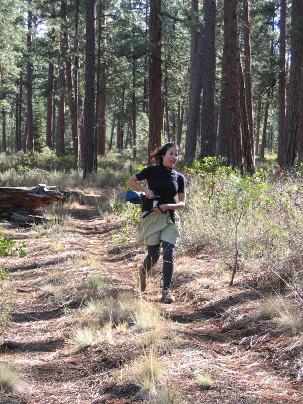 Kat on the way to the Head of the Metolius