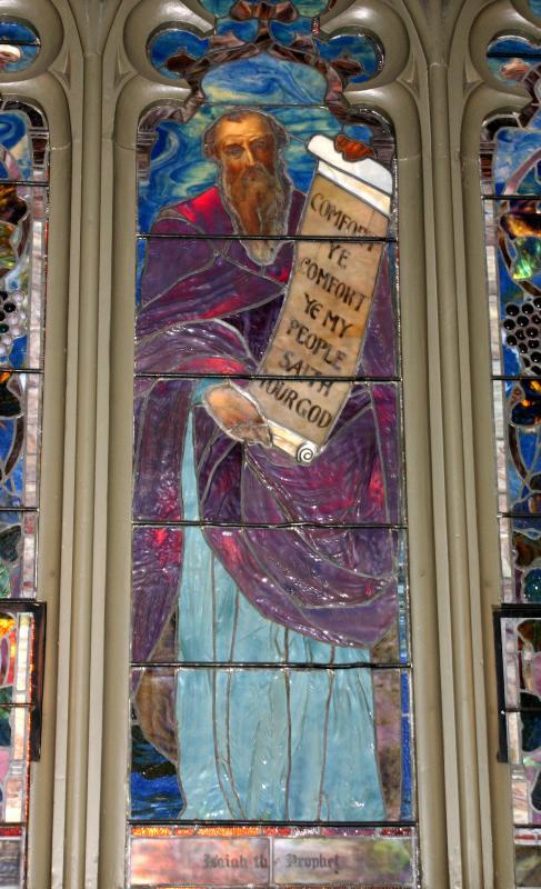 Isaiah - Tiffany Window at the Presbyterian Church