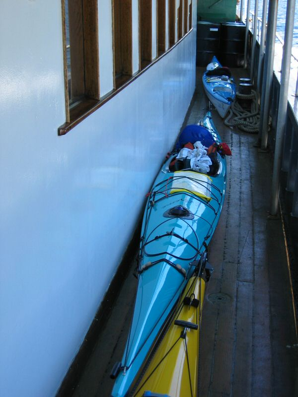 Kayaks Onboard the UChuck III