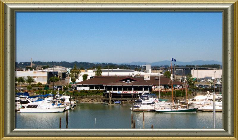 Johnnys Dock across the river