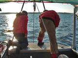 Side Scan Sonar 11-3-04 Deploying the towfish