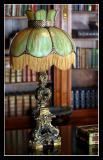 Ornate Lamp in the Library