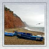 Cliffs and fishing boat, Sidmouth (1707)