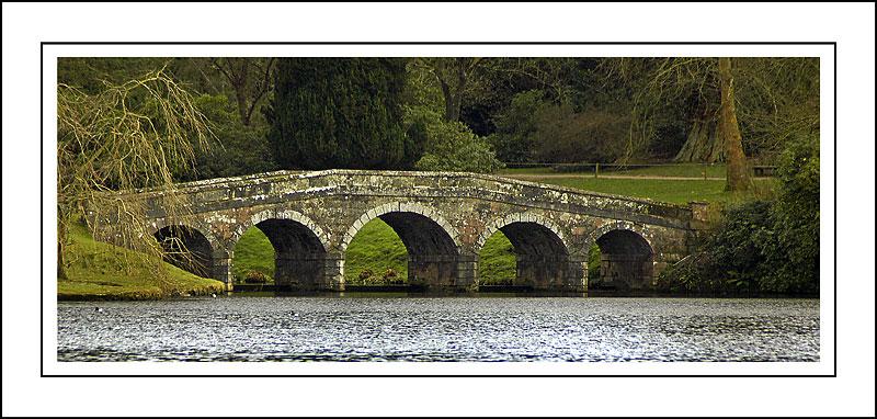 The Turf Bridge from afar ~ Stourhead