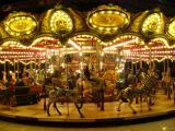 Jackie has the carousel to herself