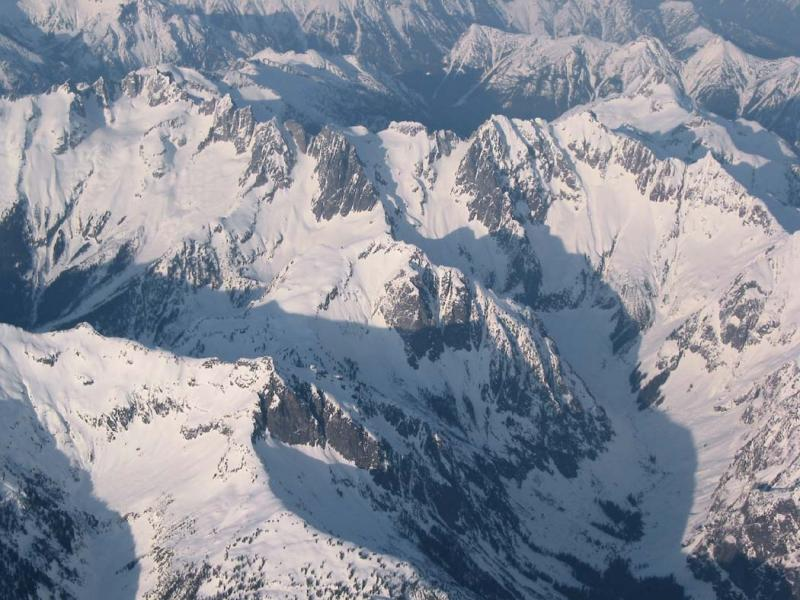 Mt Fury (R), Mt Challenger (L),  & The Northern Picket Range <br>(PicketsHighAlt022104-01.jpg)