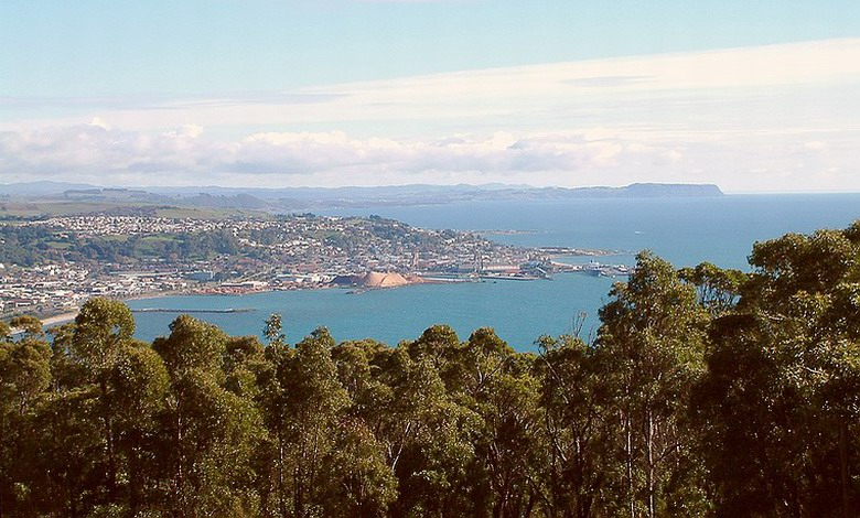 Emu Bay from Round Hill, west towards Table Cape