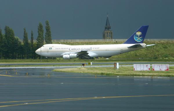 Saudi Arabian 747F at Brussels National