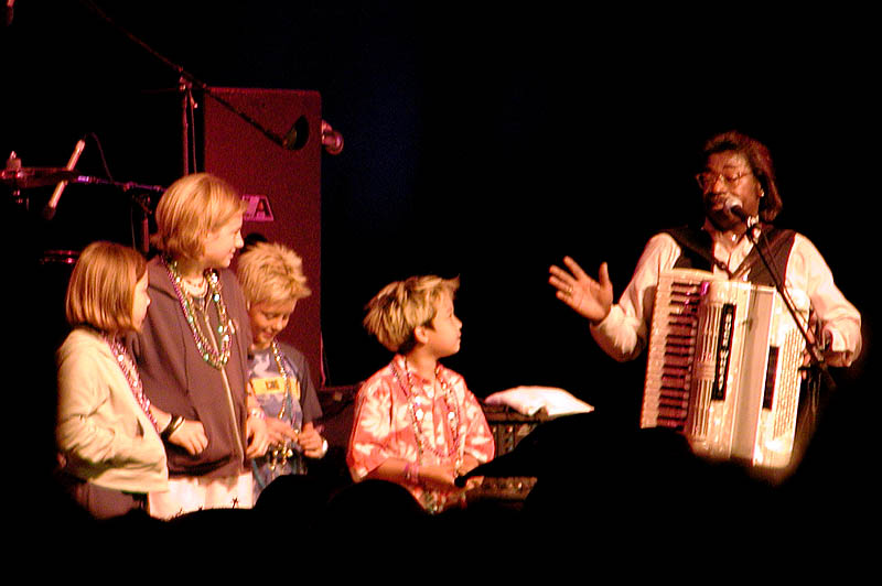 Buckwheat Zydeco gets kids in the act