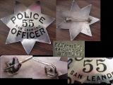 sterling san leandro police badge